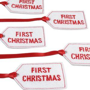 First Christmas Felt Gift Tag by Kate Finn Australia