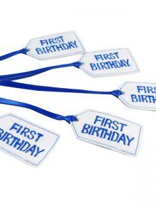First Birthday Felt Gift Tag Royal by Kate Finn Australia