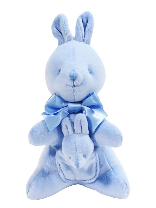 Kangaroo Baby Toy Blue Velvet Designed by Kate Finn Australia