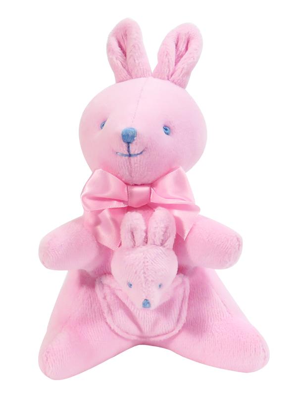 Kangaroo Baby Toy Pink Velvet Designed by Kate Finn Australia
