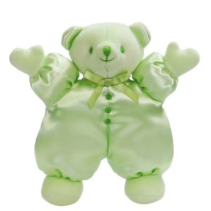 Apple Satin Puff Bear Baby Toy
