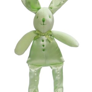 Apple Satin Bunny Squeaker Baby Toy by Kate Finn Australia