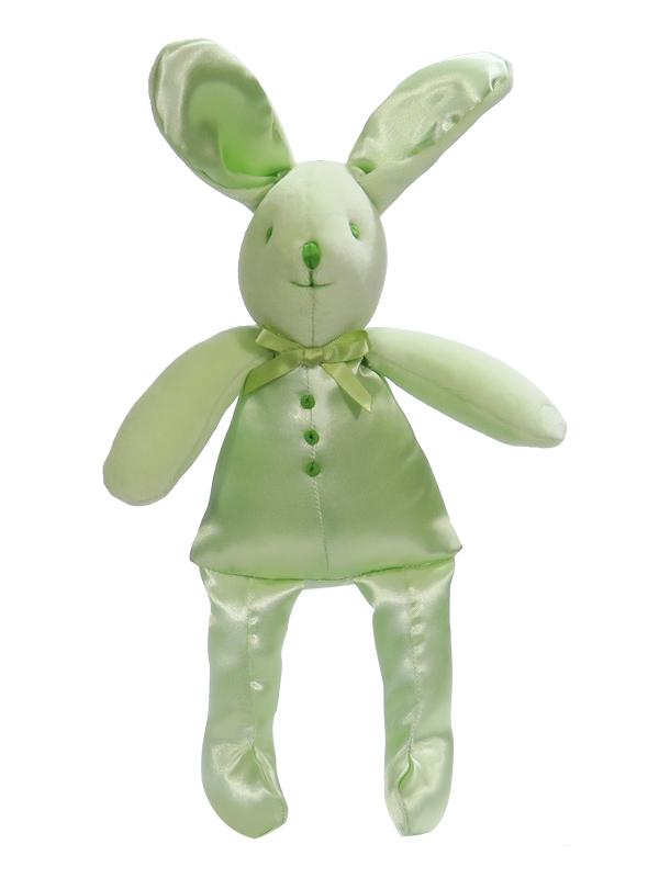 Apple Satin Bunny Squeaker Baby Toy by Kate Finn Australia