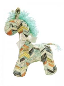 Chevron Patchwork Horse Baby Toy by Kate Finn Australia