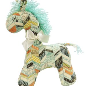 Chevron Patchwork Horse Baby Toy by Kate Finn Australia