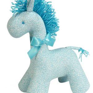 Aqua Swirls Horse Baby Toy