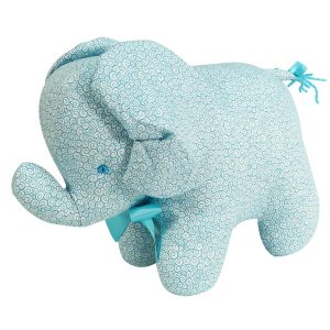 Aqua Swirls Elephant Baby Toy by Kate Finn