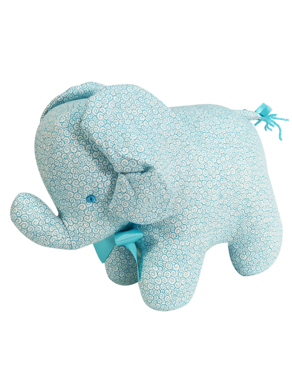 Aqua Swirls Elephant Baby Toy by Kate Finn
