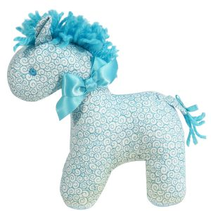 Aqua Swirls Mini Horse Baby Toy