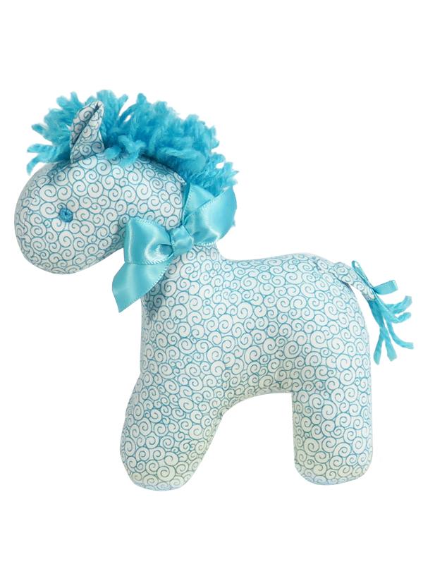 Aqua Swirls Mini Horse Baby Toy