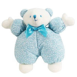Aqua Swirls Puff Bear Baby Toy
