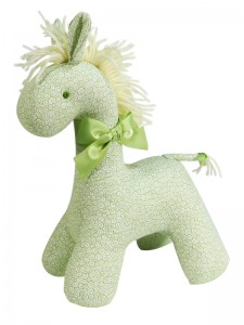 Green Swirls Horse Baby Toy by Kate Finn Australia