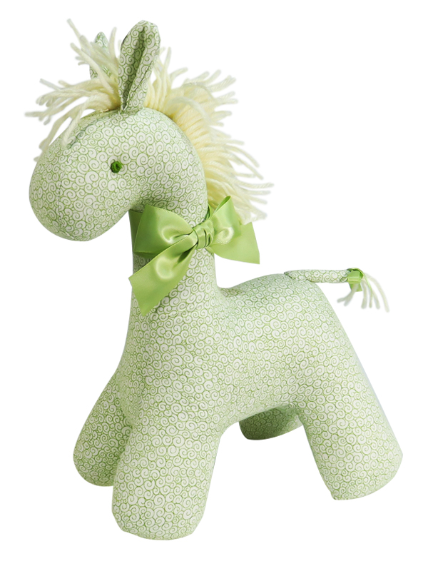 Green Swirls Horse Baby Toy by Kate Finn Australia