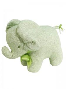 Green Swirls Elephant Baby Toy by Kate Finn Australia