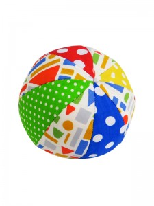 Primary Patchwork Ball Baby Toy by Kate Finn