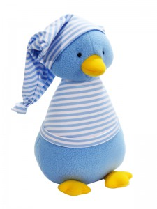 Penguin Baby Toy Blue Stripe by Kate Finn Australia
