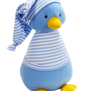 Penguin Baby Toy Blue Stripe by Kate Finn Australia