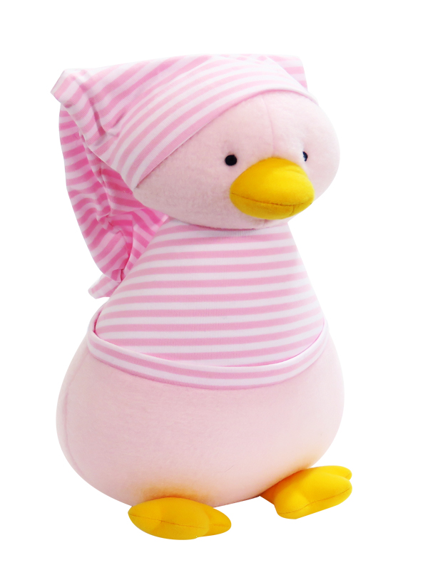 Penguin Baby Toy Pink Stripe by Kate Finn Australia