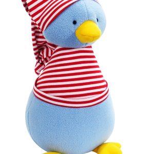 Penguin Baby Toy Red Stripe by Kate Finn Australia