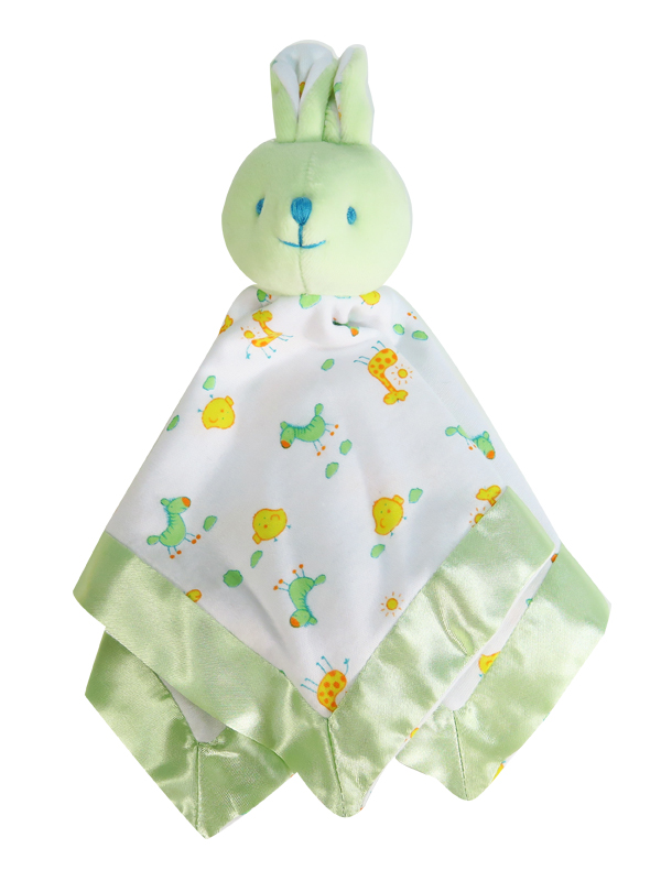 Apple Bunny Comforter Baby Toy by Kate Finn Australia