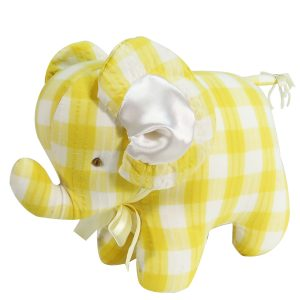 Lemon Check Elephant Baby Toy by Kate Finn Australia