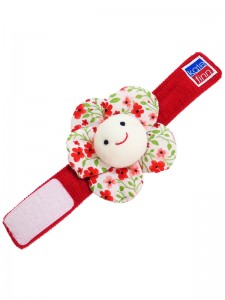 Poppy Flower Wrist Rattle Baby Toy by Kate Finn Australia