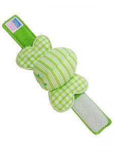 Lime Butterfly Wrist Rattle baby Toy by Kate Finn Australia