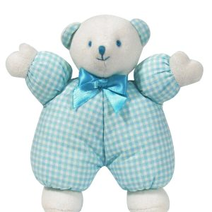 Aqua Check Puff Bear Baby Toy