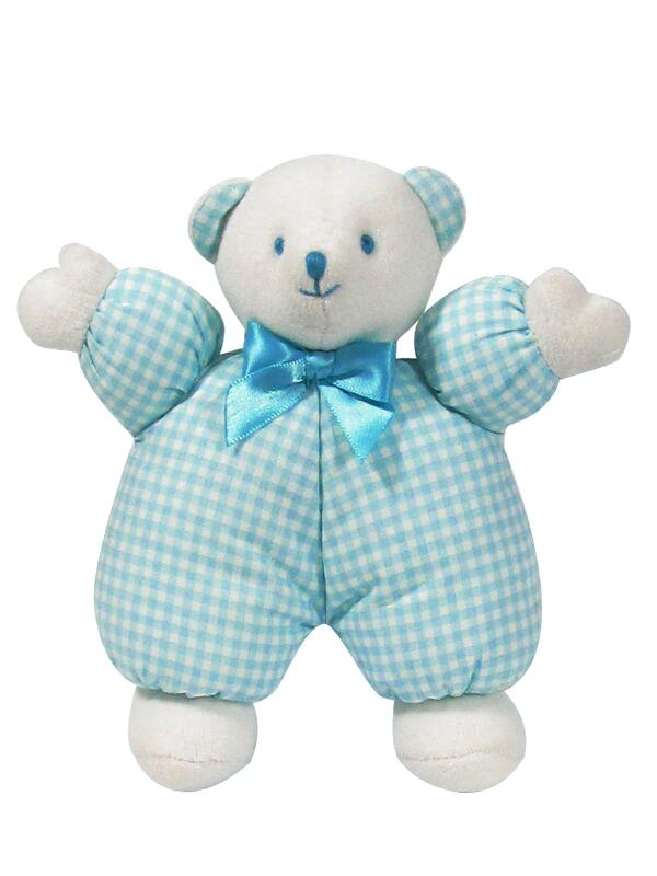 Aqua Check Puff Bear Baby Toy