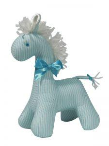 Aqua Ticking Horse Baby Toy by Kate Finn Australia