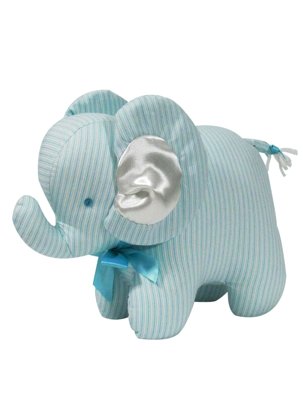 Aqua Ticking Elephant Baby Toy by Kate Finn Australia