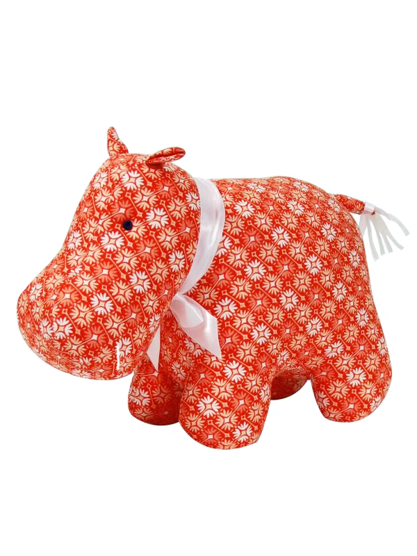 Orange Hippo Baby Toy by Kate Finn Australia