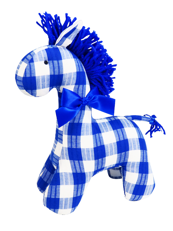 Royal Check Horse Baby Toy by Kate Finn Australia