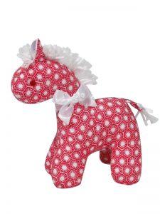 Red Sun Tiles Mini Horse Baby Toy by Kate Finn Australia