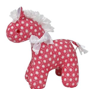 Red Sun Tiles Mini Horse Baby Toy by Kate Finn Australia