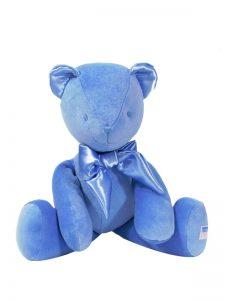 Blue Velvet Bear Baby Toy