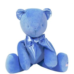 Blue Velvet Bear Baby Toy
