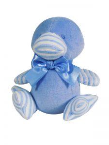 Blue Velvet Duckling Baby Toy by Kate Finn Australia
