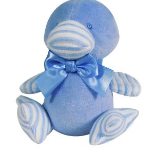 Blue Velvet Duckling Baby Toy by Kate Finn Australia