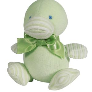 Green Velvet Duckling Baby Toy by Kate Finn Australia