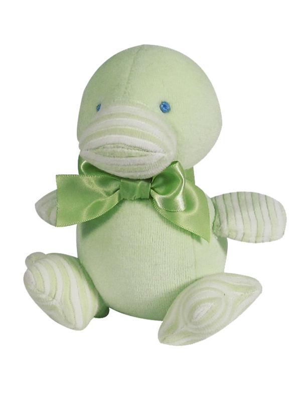 Green Velvet Duckling Baby Toy by Kate Finn Australia