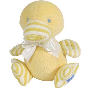 Yellow Velvet Duckling Baby Toy by Kate Finn Australia