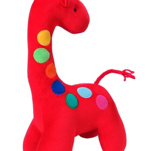 Dotty Giraffe Baby Toy Red by Kate Finn