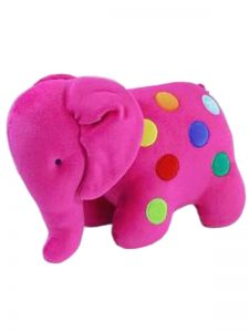 Fuchsia Dotty Elephant Baby Toy by Kate Finn