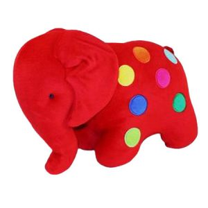 Red Dotty Elephant Baby Toy by Kate Finn