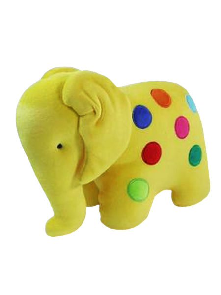 Yellow Dotty Elephant Baby Toy by Kate Finn