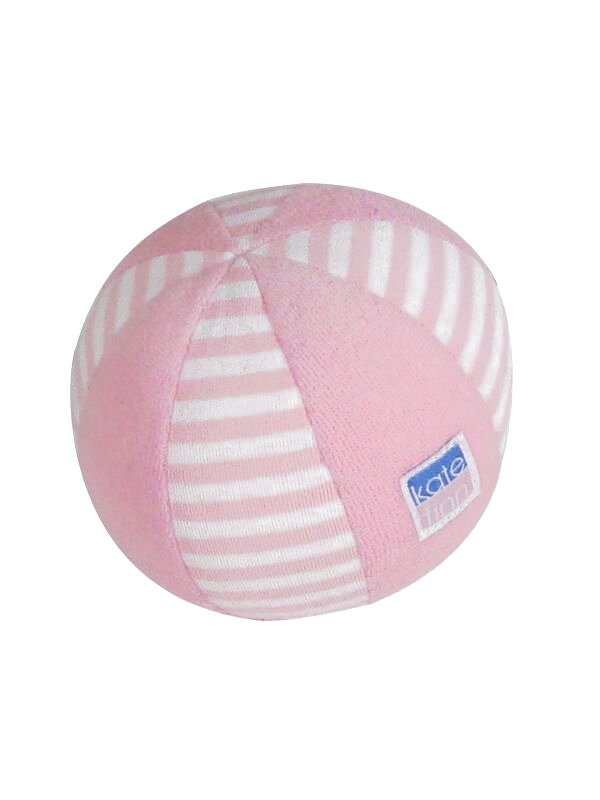 Ball Baby Toy Pink Stripe Sold by Kate Finn Australia