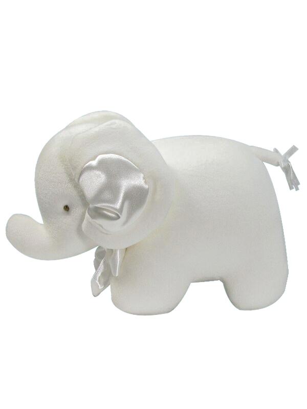 Ivory Velvet Elephant Baby Toy by Kate Finn Australia