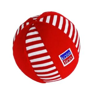 Red Stripe Velvet Ball baby Toy by Kate Finn Australia