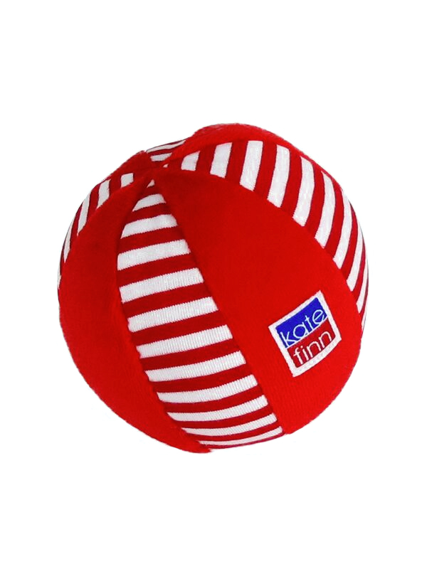Ball baby Toy Red Stripe by Kate Finn Australia